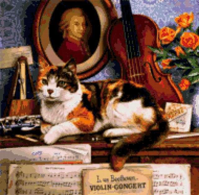 Музыкальный кот, искусство