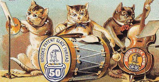 Кошкин ансамбль, открытка