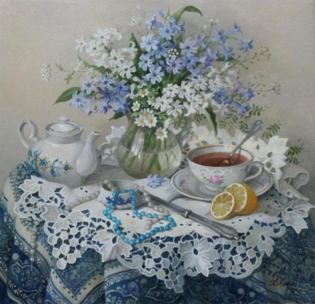 Гиацинты и ромашки, цветы,