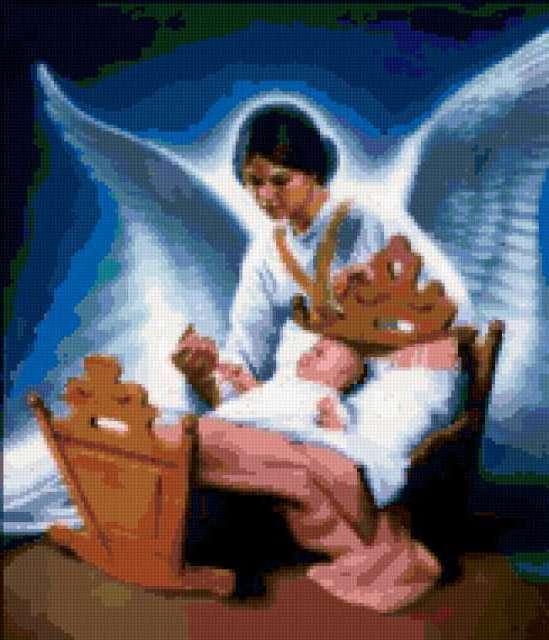 Ангел хранитель у колыбели,