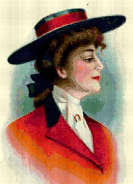 Ретро портрет всадницы