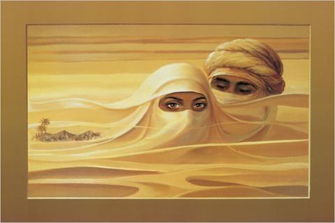 Двое в пустыне, оригинал