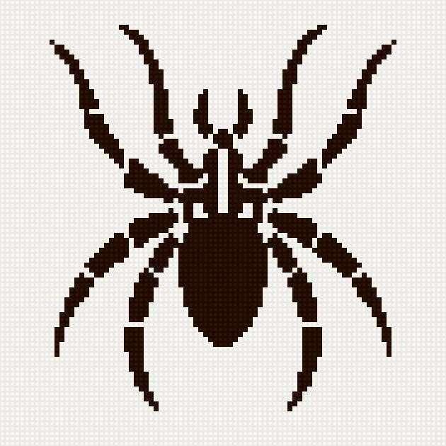 Вышивка крестом паук схема