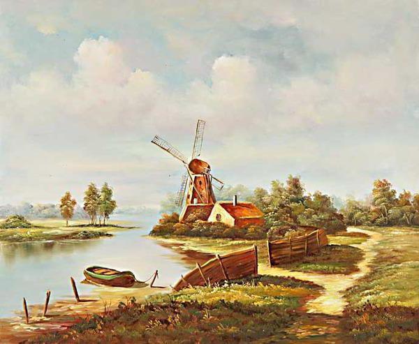 Мельница на берегу, оригинал