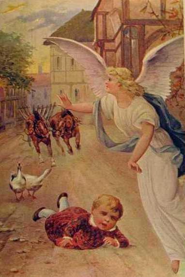 Ангел хранитель ребёнка, ретро