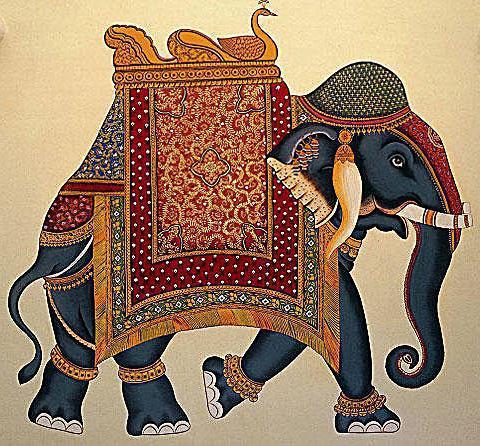 Индийский слон, оригинал