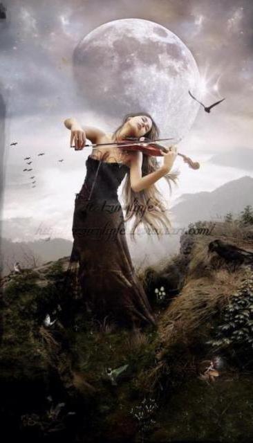Скрипачка, девушка, скрипка
