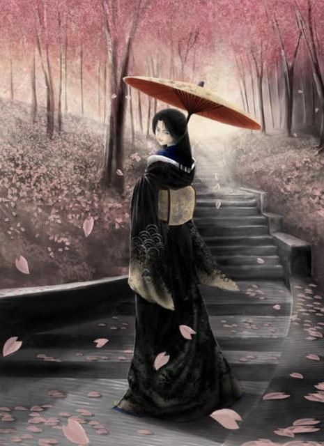 В саду цветущей сакуры,
