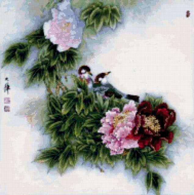 Птички в китайском стиле,