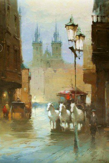 Прага. Романтика , город