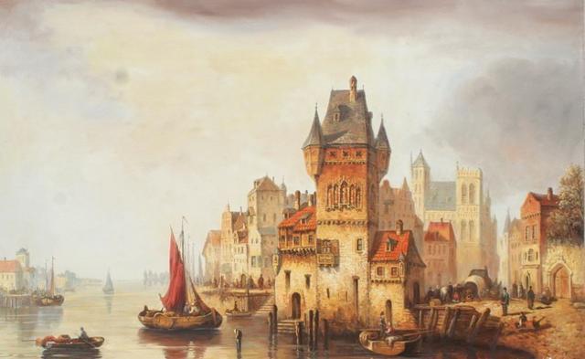 Голландский пейзаж, оригинал
