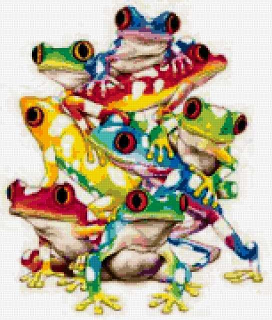 Цветные лягушки, предпросмотр