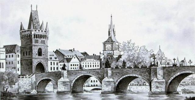 Карлов мост.Прага, оригинал