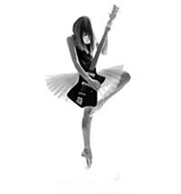 Силуэт девушки с гитарой,