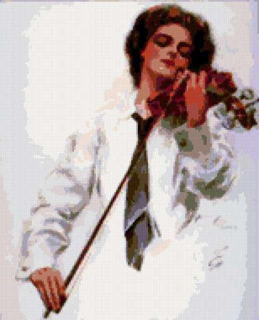 Ретро скрипачка., предпросмотр