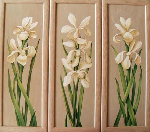 Триптих - цветы, оригинал
