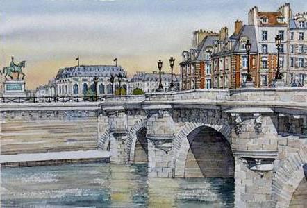 Новый мост Париж, оригинал