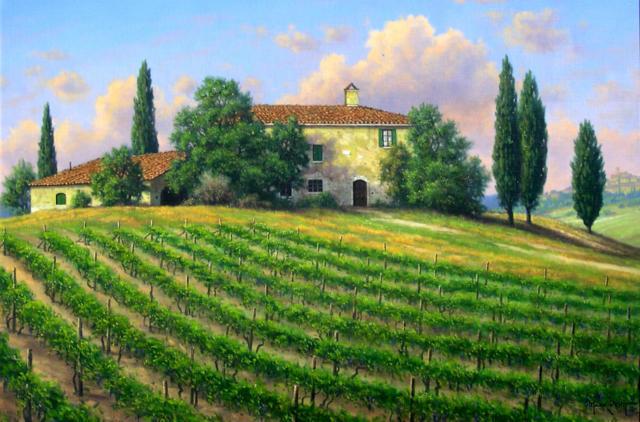 Виноградники Тосканы, италия