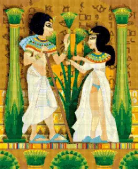 Египетская фреска