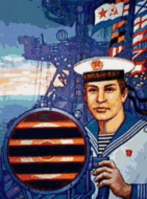 23 февраля , моряк