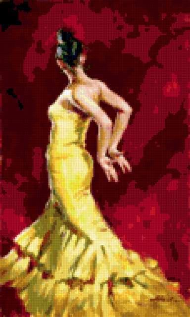 К схеме вышивки «Танцовщица»