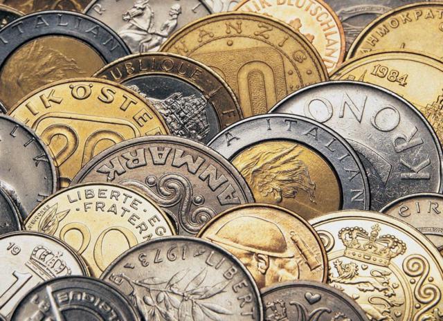 монета, доллар, рубль,