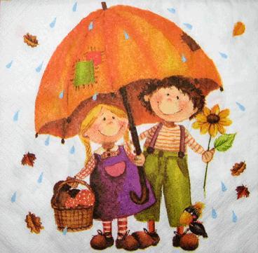 Фото детей под зонтом