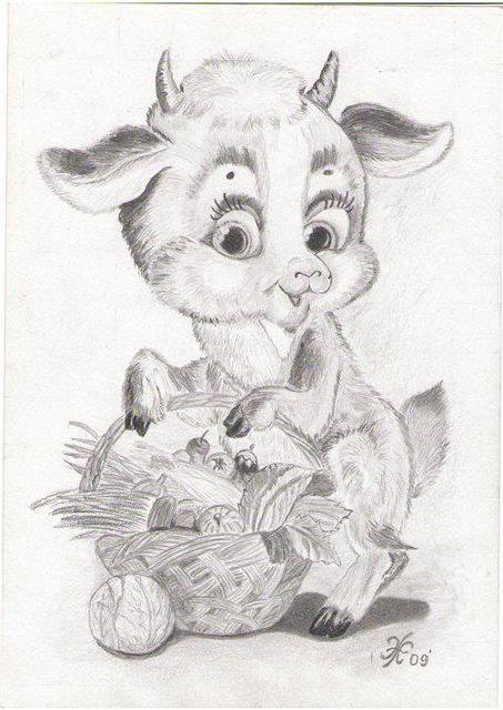 Козлик с лукошком, оригинал