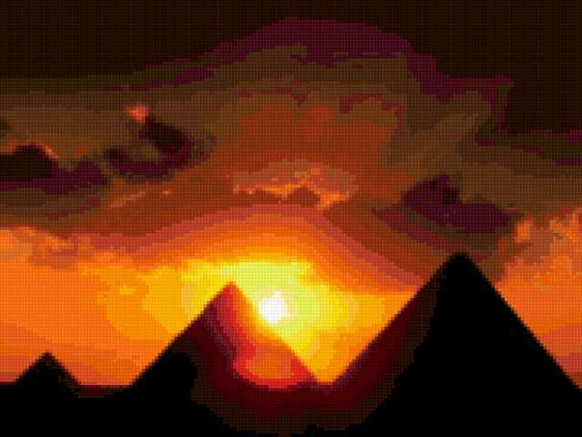Египетские закаты, природа