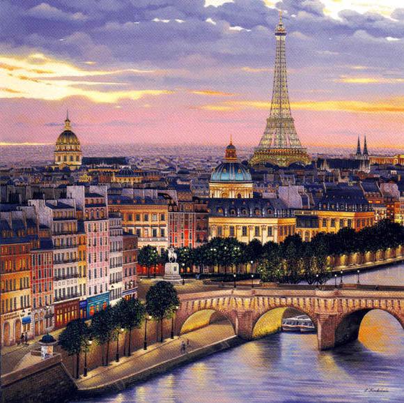 Вечерний Париж, оригинал