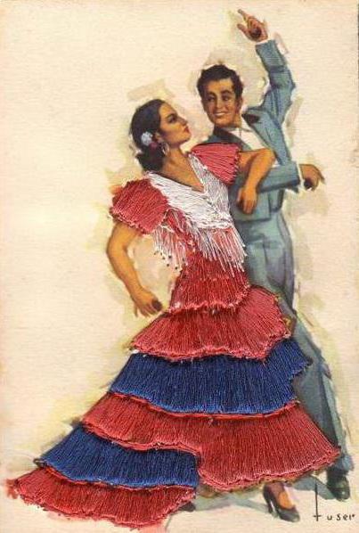 схему вышивки «Испанские