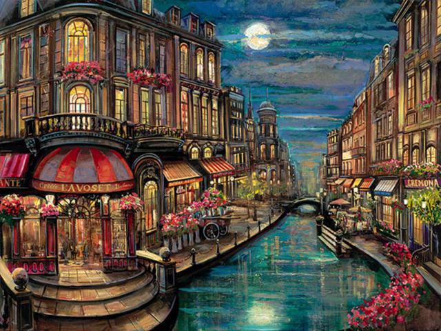 Ночь в Венеции, вечер, ночь,