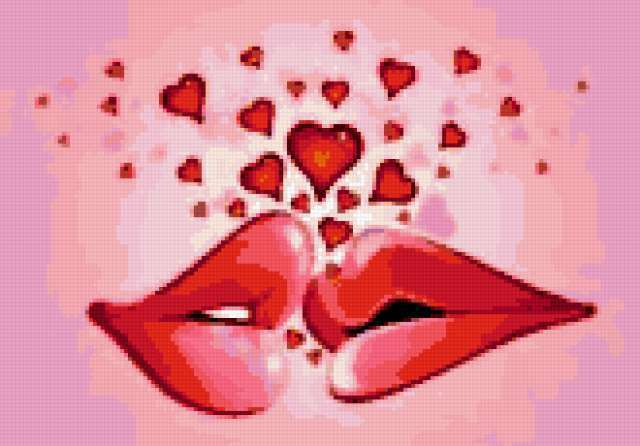 Поцелуй, губы, любовь