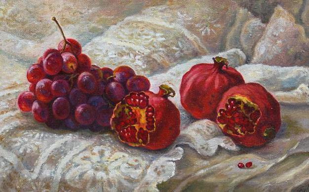 Гранаты и виноград, оригинал