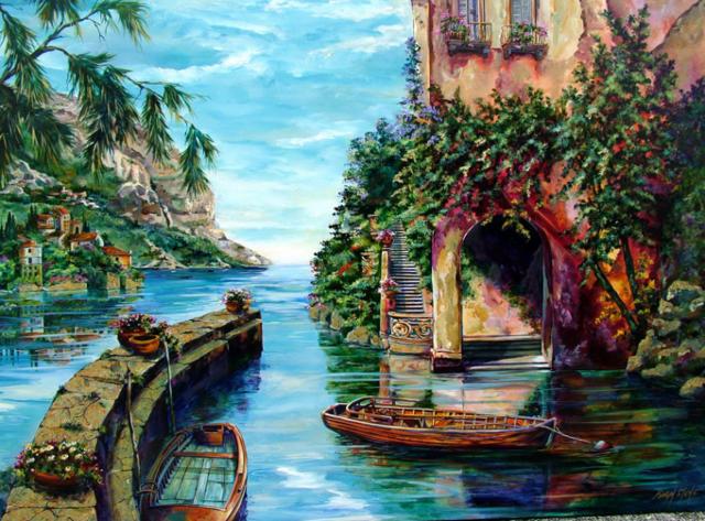 Старый причал в Венеции,
