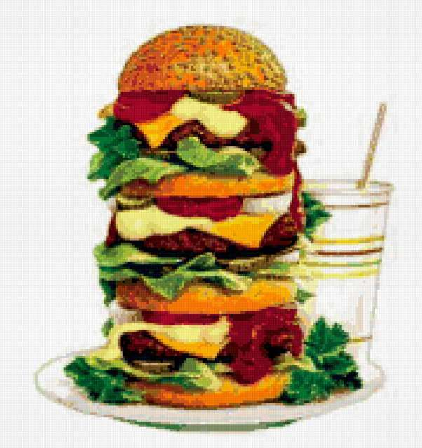 Вот так гамбургер !, бутерброд