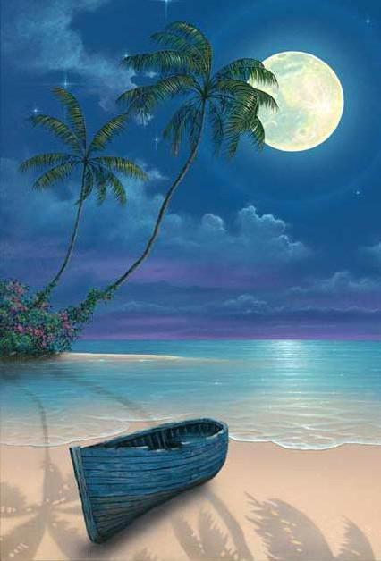 Ночь на тропическом острове,