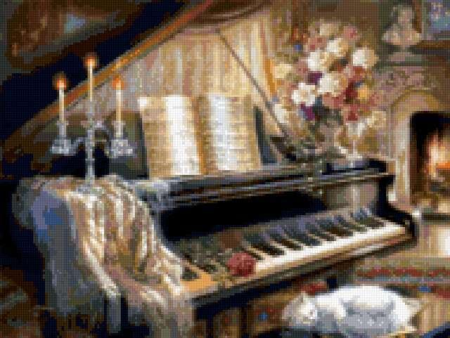Сладкий сон у рояля,