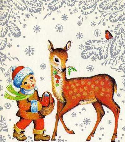 Новогодняя картина, зима