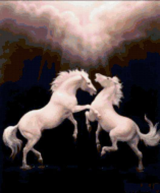 Белые лошади, предпросмотр