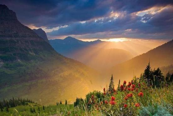 Рассвет, рассвет, горы