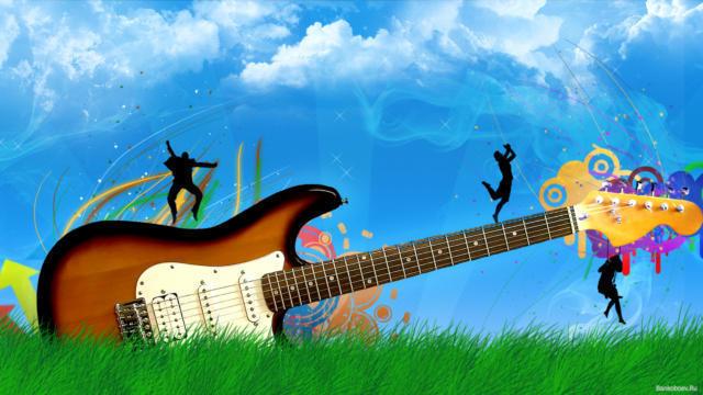 Гитара и танцующие человечки,