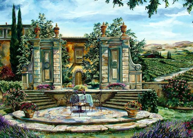 Греческий дворик, оригинал