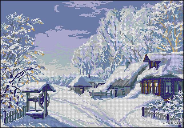 Зимняя ночь, оригинал