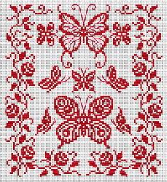 образец вышивки бабочка