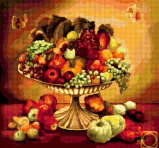 Ваза с фруктами, предпросмотр