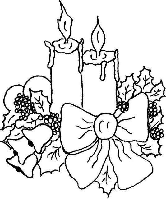 Новогодние свечи, новый год,