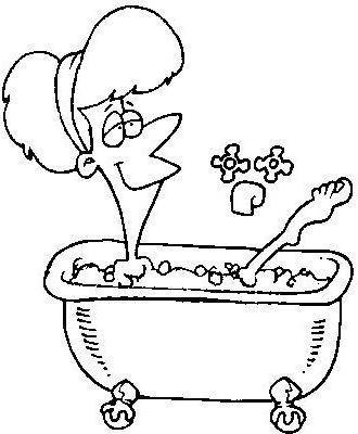 Табличка для ванной, купание