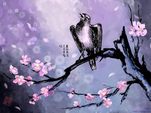 На ветке сакуры, оригинал