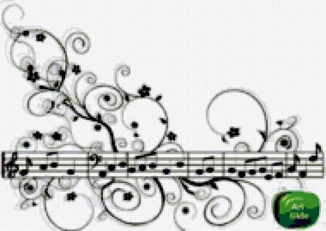 Схемы для вышивки ноты